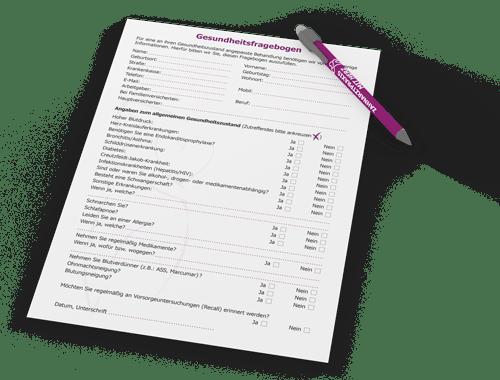 Anamnesebogen